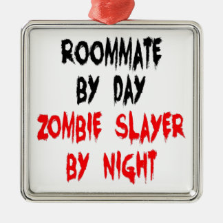 Zombie Slayer Roommate Christmas Ornament