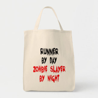 Zombie Slayer Runner Tote Bag