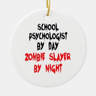 Zombie Slayer School Psychologist Round Ceramic Decoration