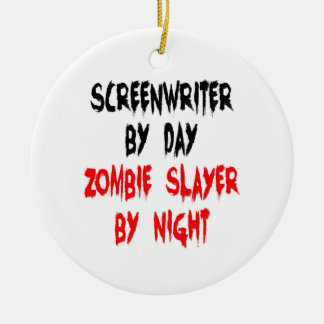 Zombie Slayer Screenwriter Christmas Ornament
