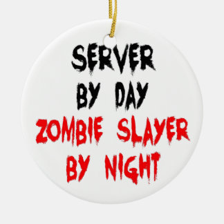Zombie Slayer Server Christmas Ornament