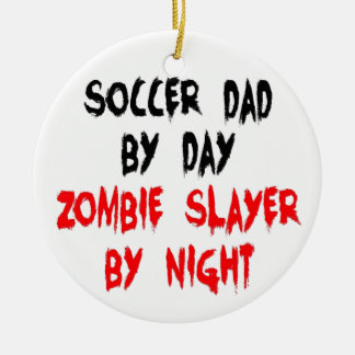 Zombie Slayer Soccer Dad Christmas Ornament