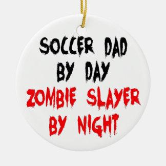 Zombie Slayer Soccer Dad Round Ceramic Decoration