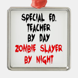 Zombie Slayer Special Education Teacher Christmas Ornament
