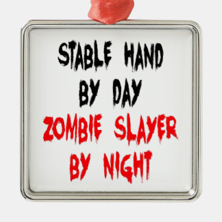 Zombie Slayer Stable Hand Christmas Ornament