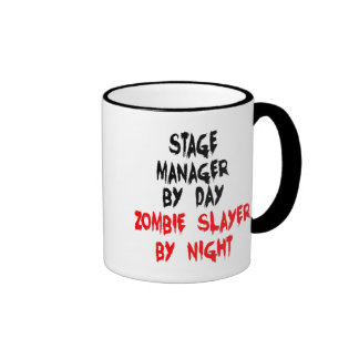 Zombie Slayer Stage Manager Coffee Mugs