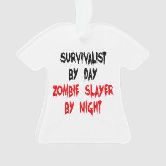 Zombie Slayer Survivalist Ornament