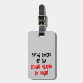 Zombie Slayer Swing Dancer Luggage Tag