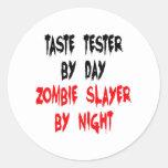 Zombie Slayer Taste Tester Round Sticker