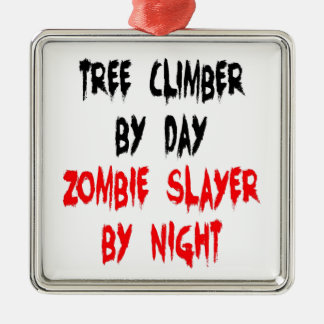 Zombie Slayer Tree Climber Christmas Ornament