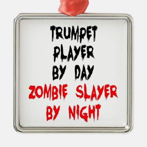Zombie Slayer Trumpet Player Christmas Tree Ornament