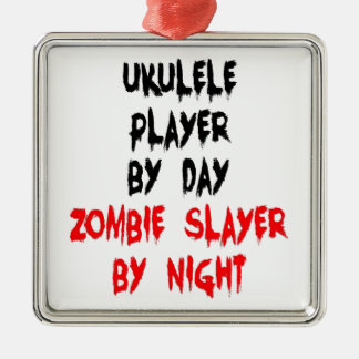 Zombie Slayer Ukulele Player Christmas Ornament