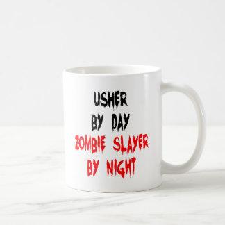 Zombie Slayer Usher Basic White Mug