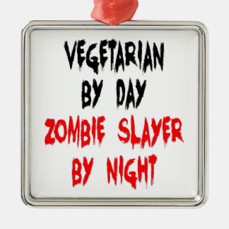 Zombie Slayer Vegetarian Christmas Ornament