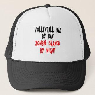 Zombie Slayer Volleyball Dad Trucker Hat