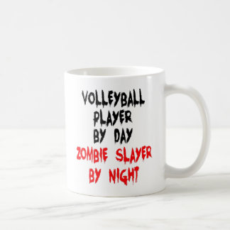 Zombie Slayer Volleyball Player Coffee Mug