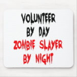 Zombie Slayer Volunteer Mousepads