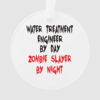 Zombie Slayer Water Treatment Engineer Ornament