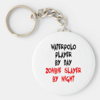 Zombie Slayer Waterpolo Player Key Ring