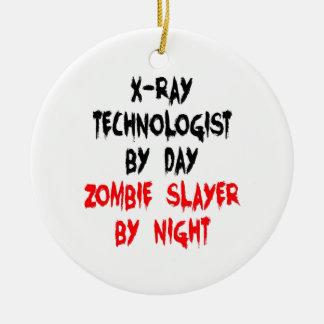 Zombie Slayer xRay Technologist Round Ceramic Decoration