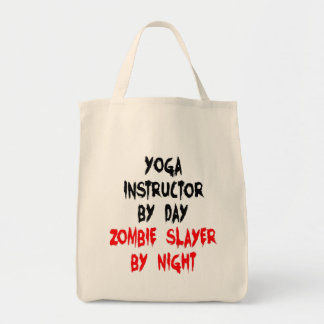 Zombie Slayer Yoga Instructor Grocery Tote Bag
