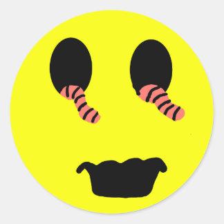 Zombie Smiley Sticker
