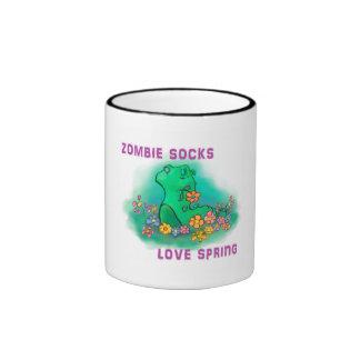Zombie socks love spring ringer mug