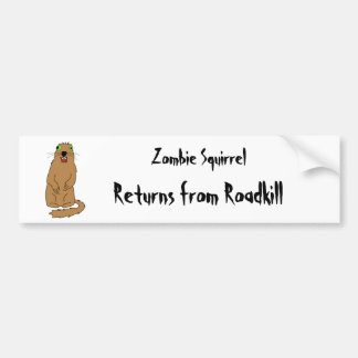 Zombie Squirrel Bumper Sticker