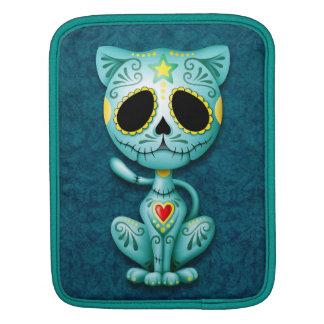 Zombie Sugar Kitten, blue iPad Sleeve