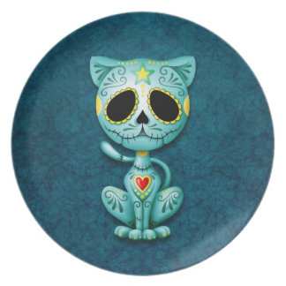 Zombie Sugar Kitten, blue Plate