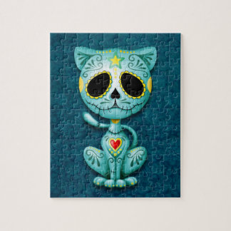 Zombie Sugar Kitten, blue Puzzles