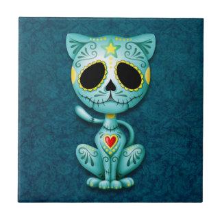 Zombie Sugar Kitten, blue Tile