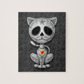 Zombie Sugar Kitten, dark Jigsaw Puzzle