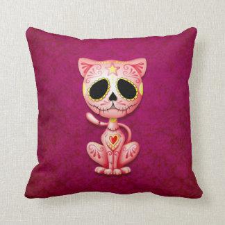 Zombie Sugar Kitten, pink Cushion
