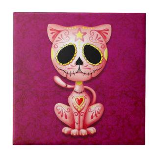 Zombie Sugar Kitten, pink Tile