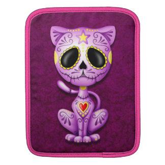 Zombie Sugar Kitten, purple iPad Sleeves