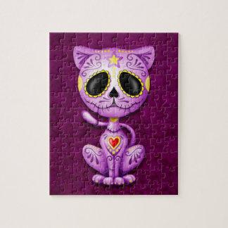 Zombie Sugar Kitten, purple Jigsaw Puzzle