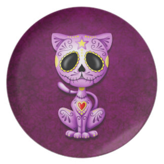 Zombie Sugar Kitten, purple Plate