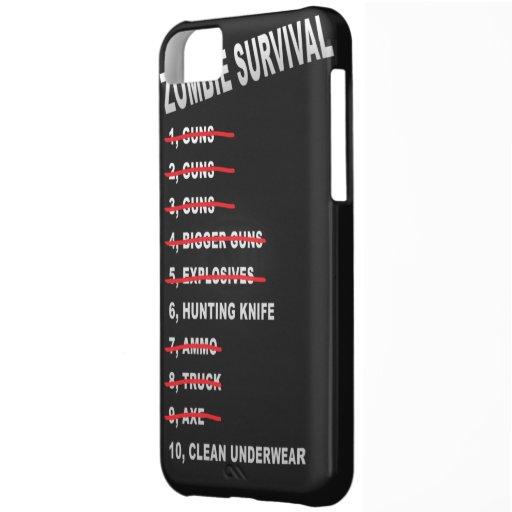 Zombie Survival Checklist iPhone cover iPhone 5C Case