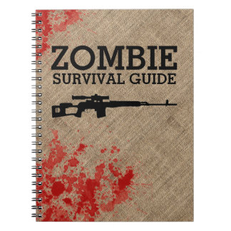 Zombie Survival Guide Funny Spiral Note Book