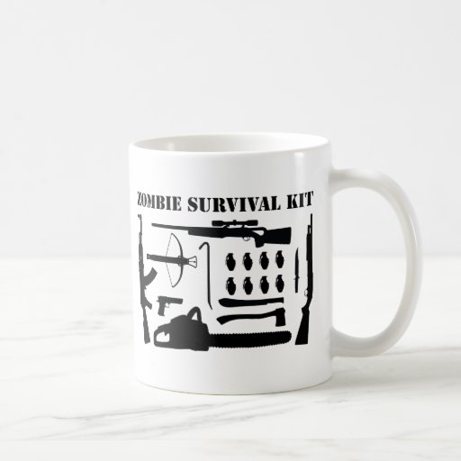 Zombie Survival Kit Basic White Mug