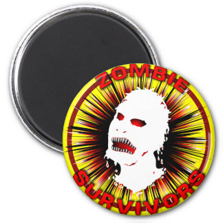 Zombie Survivors Icon Flair 6 Cm Round Magnet