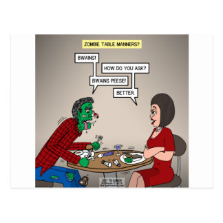 Zombie Table Manners Postcard
