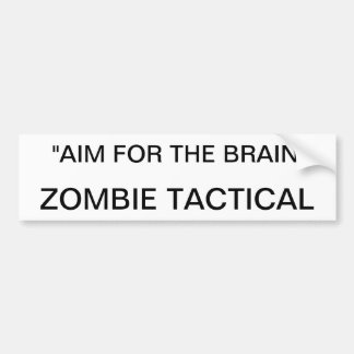 Zombie tactical bumper sticker