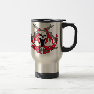 Zombie tactical red travel mug