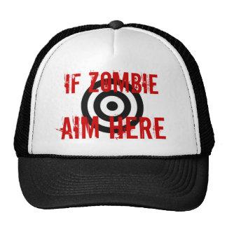 Zombie Target Trucker Hats