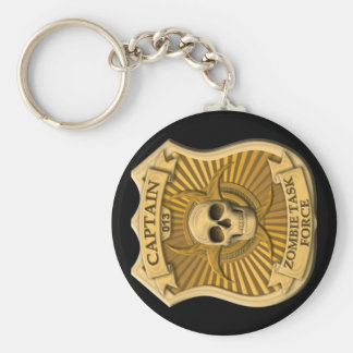 Zombie Task Force - Captain Badge Basic Round Button Key Ring