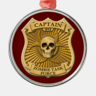 Zombie Task Force - Captain Badge Christmas Ornament