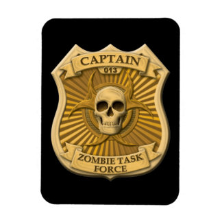Zombie Task Force - Captain Badge Magnet