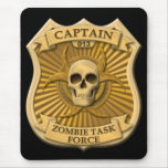 Zombie Task Force - Captain Badge Mouse Pad